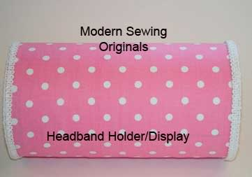 Pink Polka Dot Headband Holder