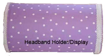 Purple Polka Dot Headband Holder